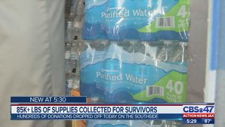 85K+ LBS of supplies collected for survivors