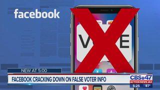Facebook crackdown on False voter info