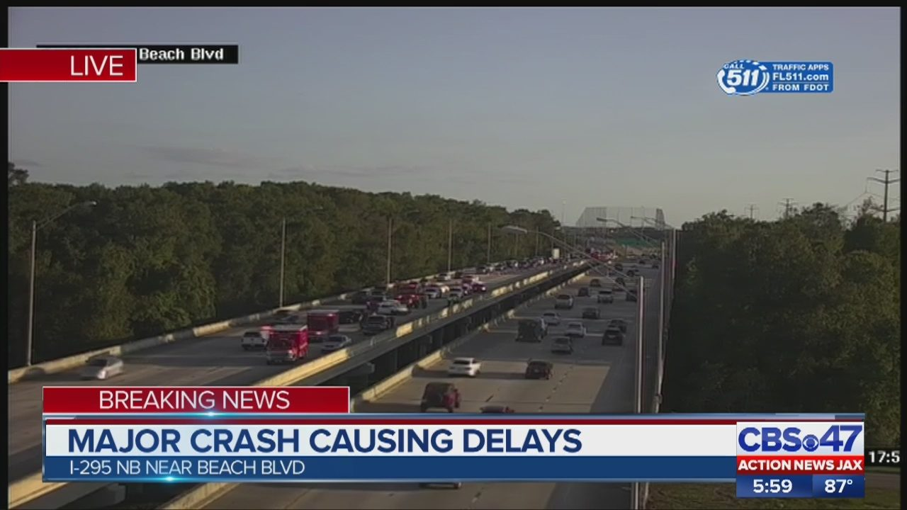 Jacksonville I-295 crash: Driver killed near Beach Blvd  | WJAX-TV