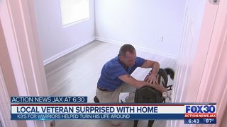 Local veteran surprised with home