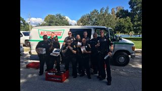 Florida cops eat donuts after finding stolen Krispy Kreme truck