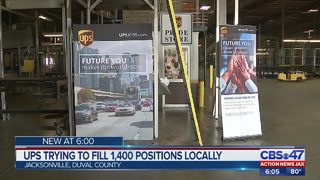 UPS trying to fill 1,400 positions locally