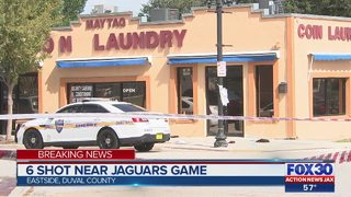Six people shot near Jaguars game