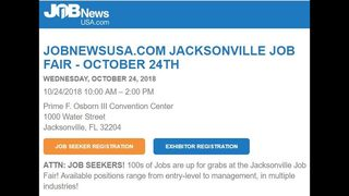 Hundreds of jobs available at upcoming job fair in Jacksonville