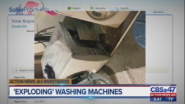 EXPLODING' WASHING MACHINES: A Jacksonville-area family says