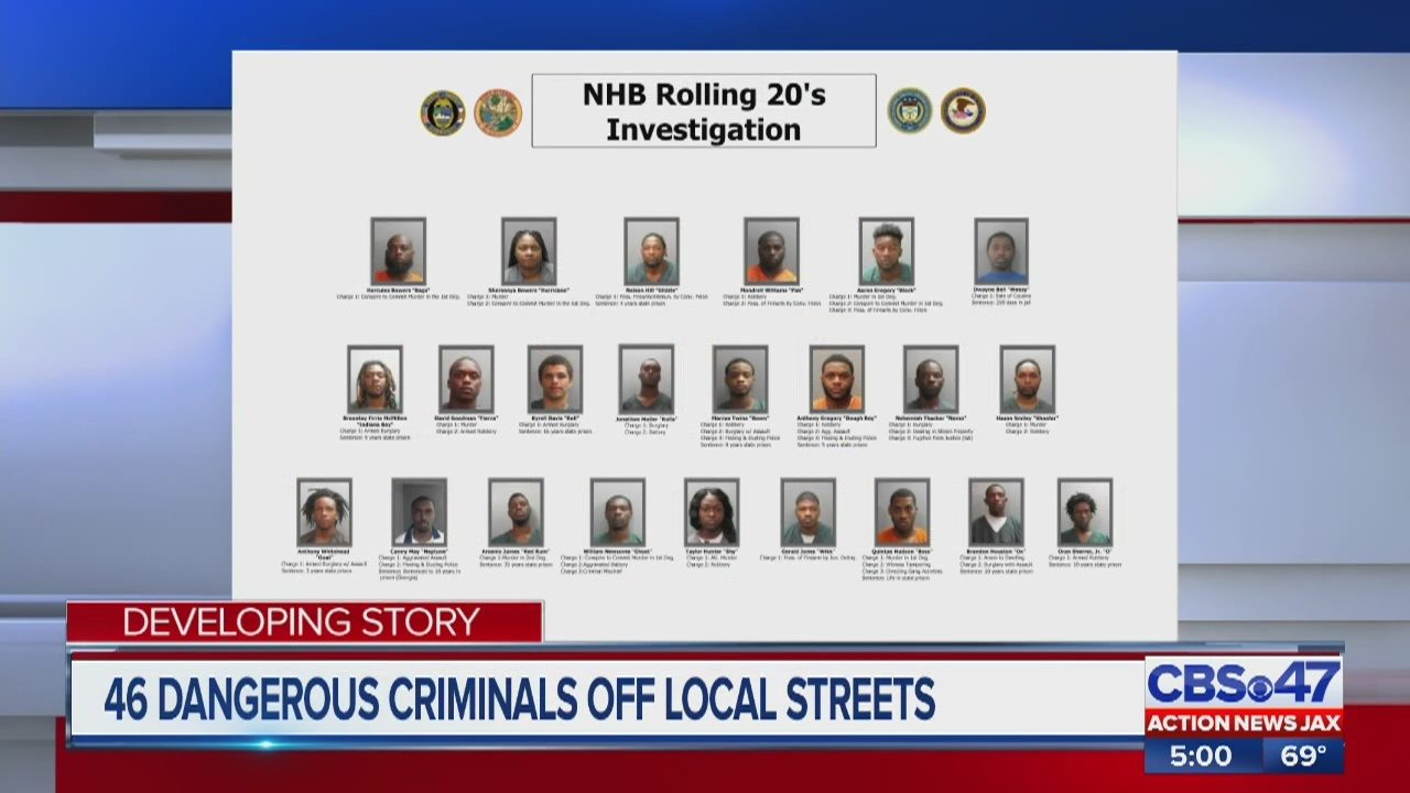 Jacksonville police take 46 gang members off the streets