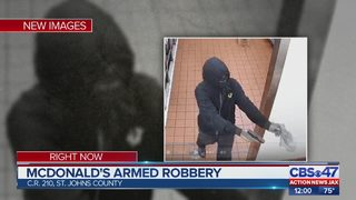 Search on for suspect who robbed McDonald