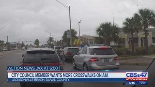 Jacksonville Beach city council member wants more crosswalks on A1A