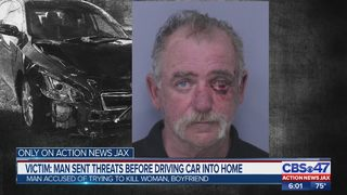 Victim: Man sent threats before driving car into St. Augustine Shores home