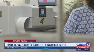 Final Duval County ballots being recounted