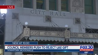 Jacksonville City Council members push to reject UAE gift