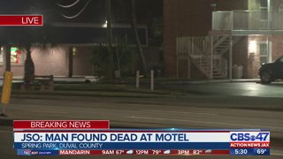 Man found dead outside motel