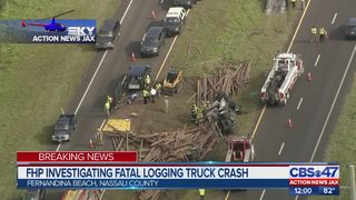 Log truck driver dies in crash near Shave Bridge in Nassau County