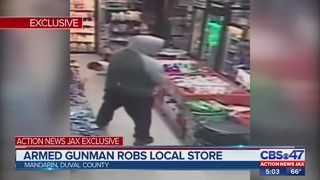Armed gunman robs local store