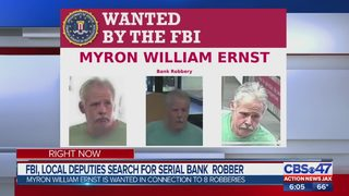 FBI, local deputies search for serial bank robber