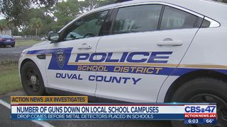 Number of guns down in local school campuses