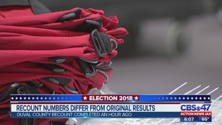 Recount numbers differ from original results