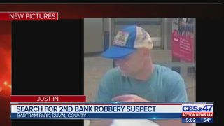 Search for second bank robbery suspect