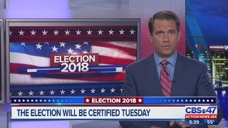 2018 Midterm election results will be certified Tuesday