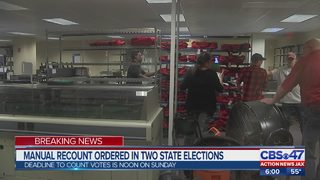 Manual recount ordered in two state elections
