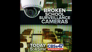 Broken school surveillance cameras