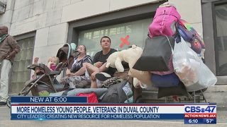 More homeless young people, veterans in Duval County