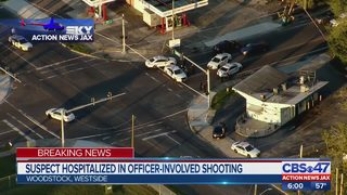 Suspect hospitalized in officer-involved shooting