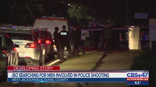 JSO searching for men involved in police shooting