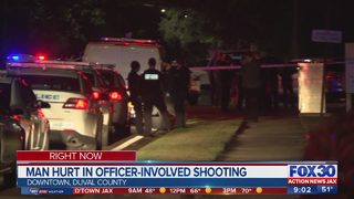 Man hurt in officer-involved shooting