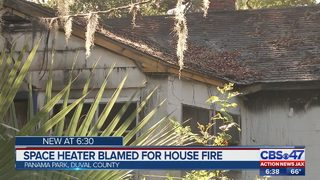 Space heater blamed for house fire