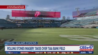 Rolling Stones imagery takes over TIAA Bank Field
