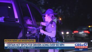 Hundreds of drivers clocked at 100 mph or over in Northeast Florida hot spots