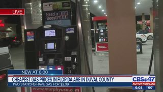 Cheapest gas prices in Florida are in Duval County