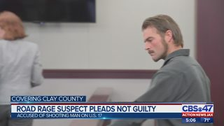 Clay County road rage suspect pleads not guilty