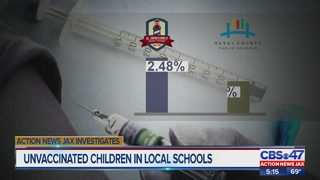 More Duval, St. Johns County parents not getting kids vaccinated