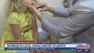 Increase in local unvaccinated students