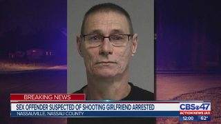 Sex offender suspected of shooting girlfriend arrested
