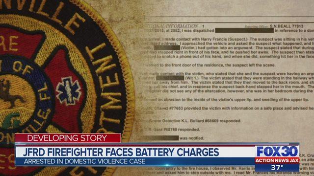 Jacksonville firefighter arrested after allegedly slapping