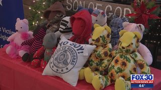 Family of Jacksonville girl killed in crossfire gifted teddy bear made out of victims clothes