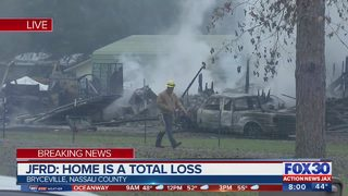 Home destroyed following early morning fire, Nassau authorities say