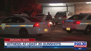 Witness hears at least 20 gunshots, JSO on scene on Northside