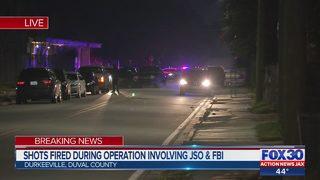 FBI arrest suspect after shots fired during law enforcement operation