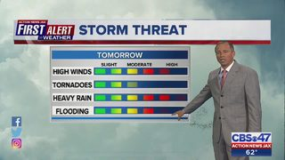 First Alert Weather team tracking strong storm system for Jacksonville area Friday