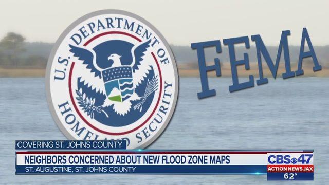 New FEMA flood maps confuse some St  Johns County area