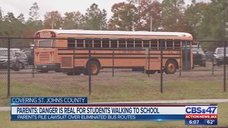 Parents fight the St. Johns County School Board over bus cuts in their neighborhood