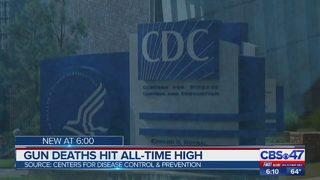 Gun deaths hit all-time high
