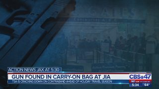 Gun found in carry-on bag at JIA