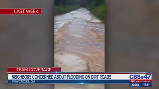 Neighbors concerned about flooding on dirt roads