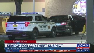 Search for car theft suspects in St. Johns County