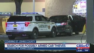 Search for possible armed thieves